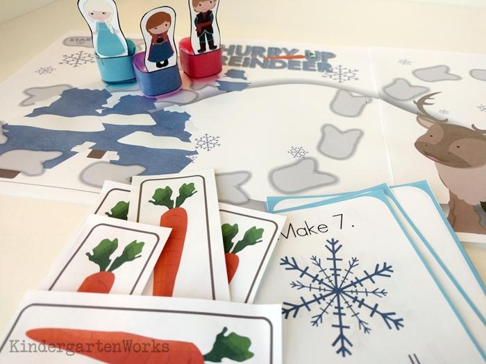 Frozen Kindergarten Composing Teen Numbers Game - differentiated cards
