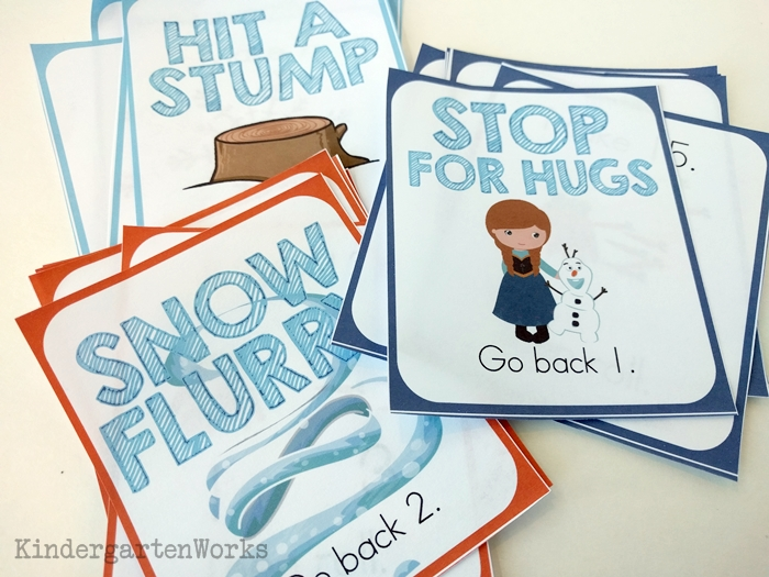 Frozen Kindergarten Composing Teen Numbers Game - nmy kids would love this