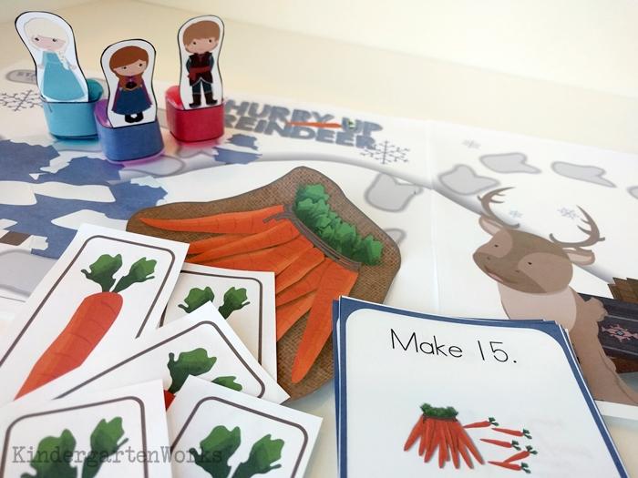 Frozen Kindergarten Composing Teen Numbers Game - tens and ones