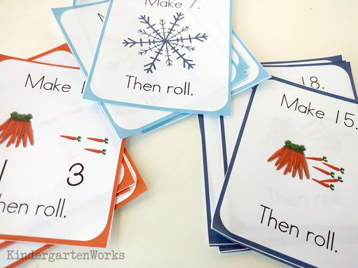 Frozen Kindergarten Composing Teen Numbers Game - three levels of play
