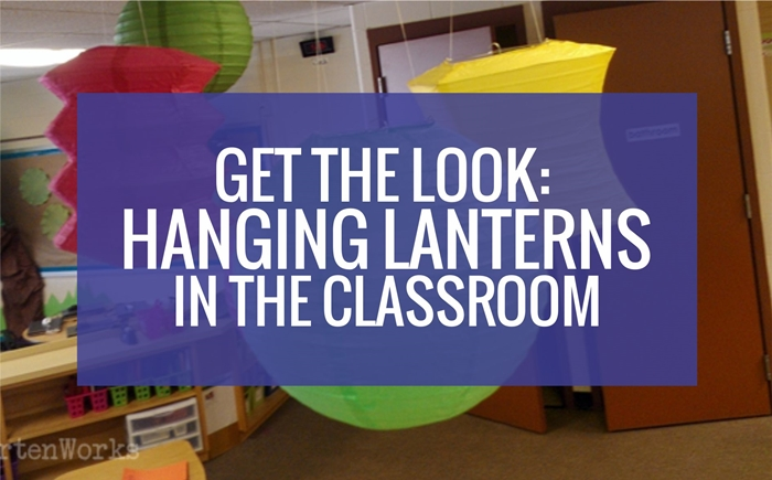 Hanging lanterns in the classroom
