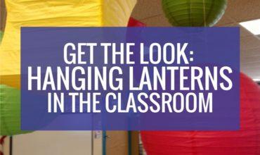 Hanging lanterns in the kindergarten classroom