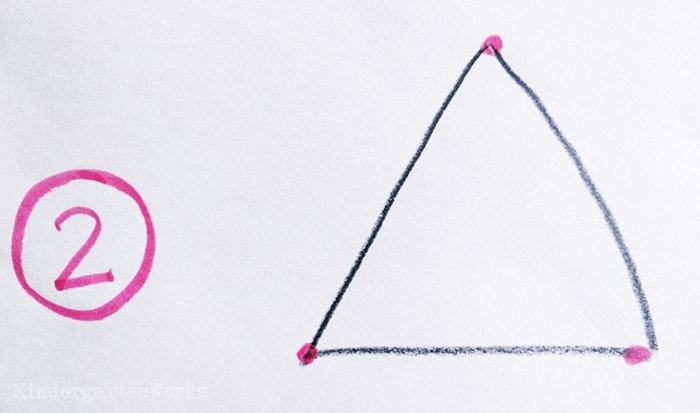How to draw a triangle for kindergarteners easily
