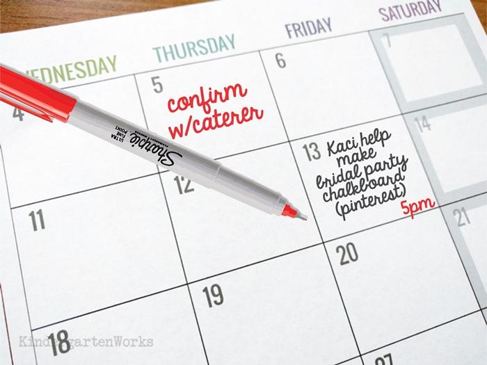 Ways to use teacher planning calendar - planning a teacher wedding