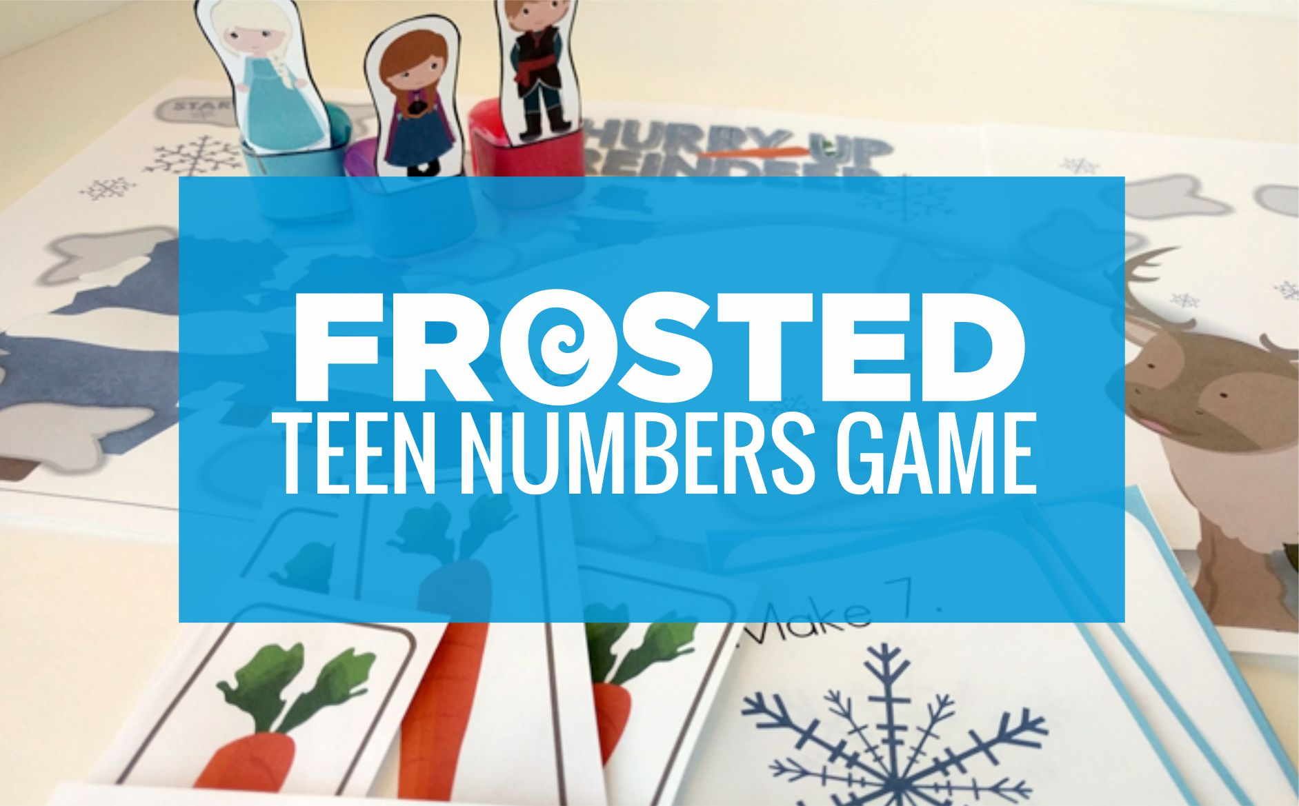 Frosted Frozen Teen Numbers Game