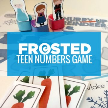 frozen themed teen numbers frosted race game