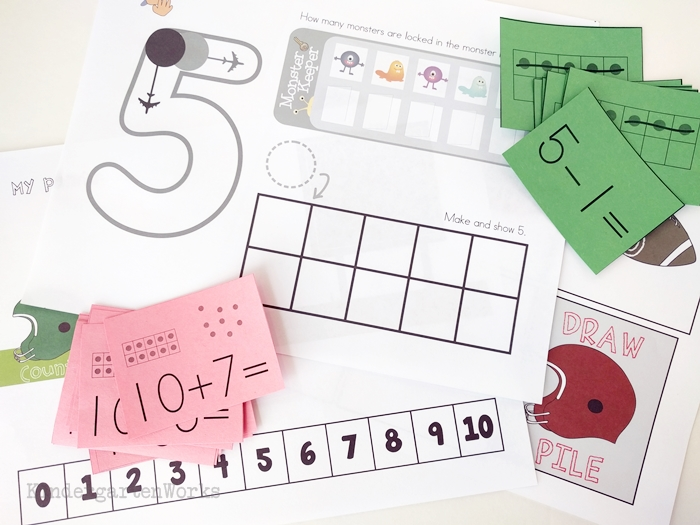 Differentiate Math Easier with the Guided Math Pack for Kindergarten includes starter materials