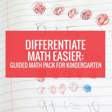 Differentiate Math in Kindergarten