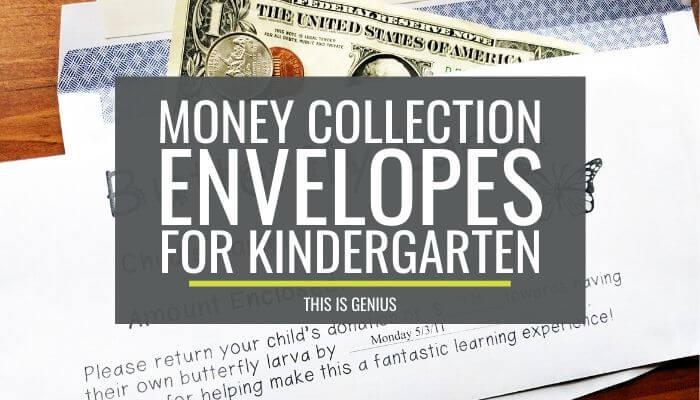 How to Make Money Collection Envelopes for Kindergarten