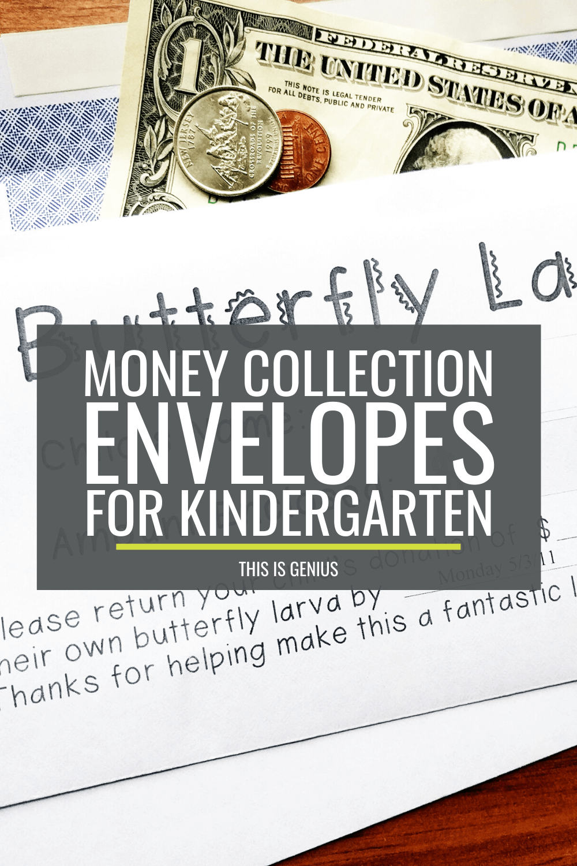 Money Collection Envelopes for Kindergarten - This is Genius