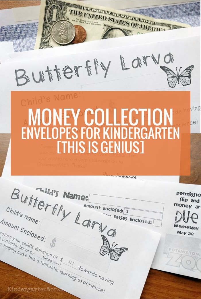 Money Collection Envelopes for Kindergarten – This is Genius