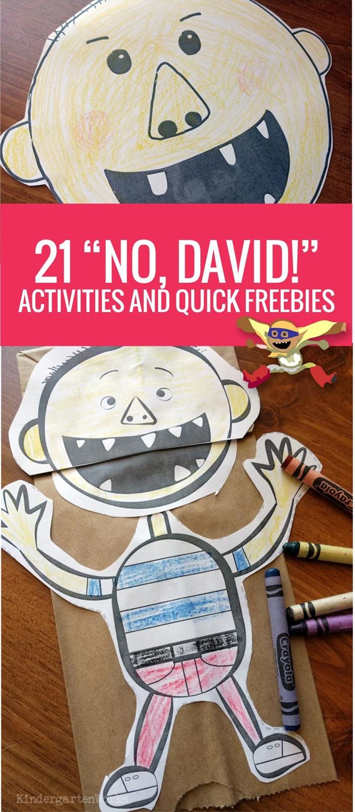 21 No David Activities and Quick Freebies