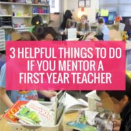 3 Helpful Things to Do if You Mentor a First Year Teacher
