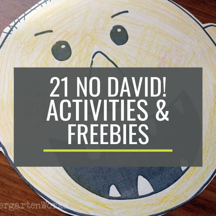 Free No David Activities and Resources for Kindergarten