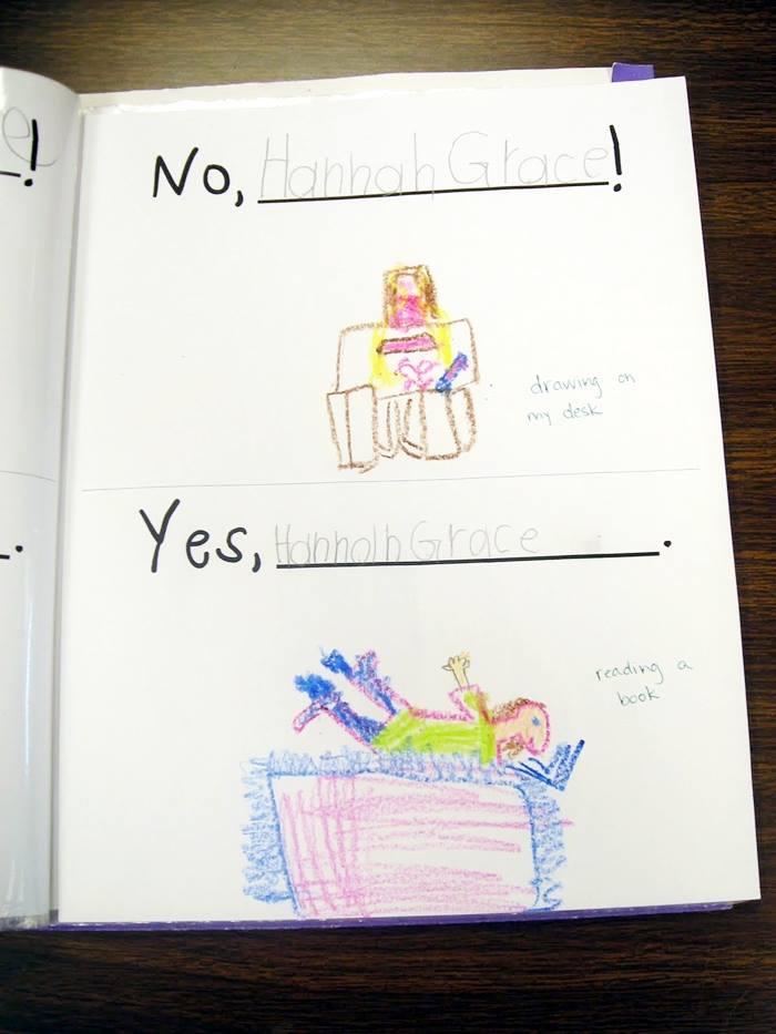 No David Activities and Quick Freebies - free class book template for kindergarten