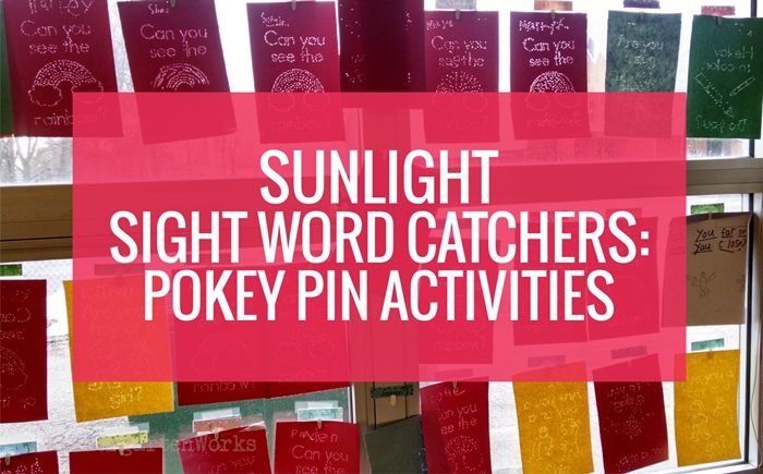 Sunlight Sight Word Catchers - Pokey Pin Activities