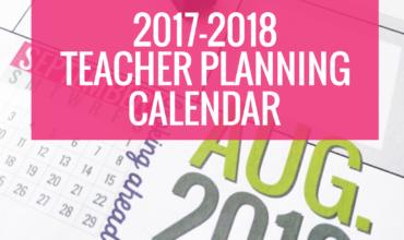 Printable 2017-2018 Calendar Template