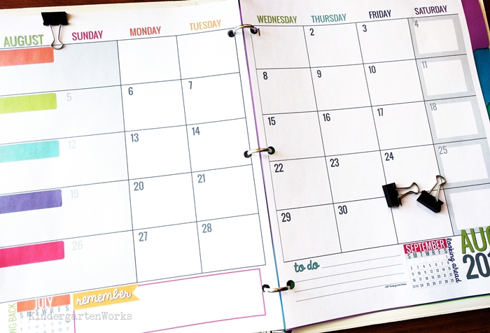 Printable Calendar Template Teacher Planning