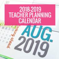 Printable 2018-2019 Calendar Template