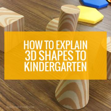Explain 3d shapes to kindergarten