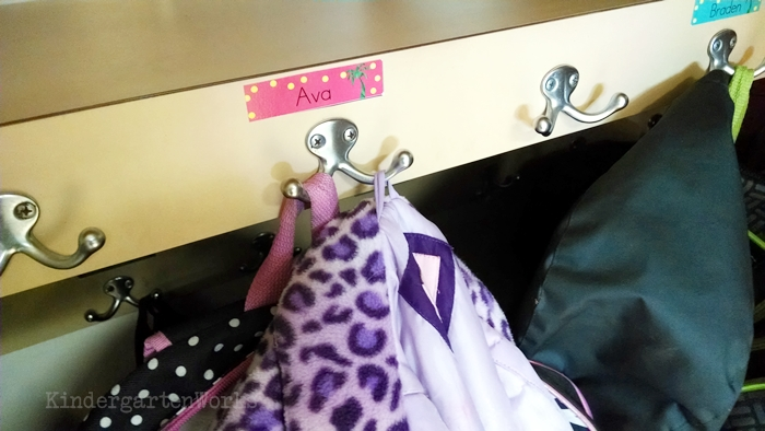 How to Manage an End of Day Routine in Kindergarten - closet gear