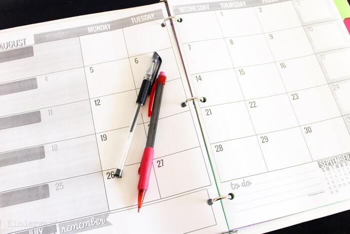 Stunningly Simple Teacher Printable Calendar Planning Calendar