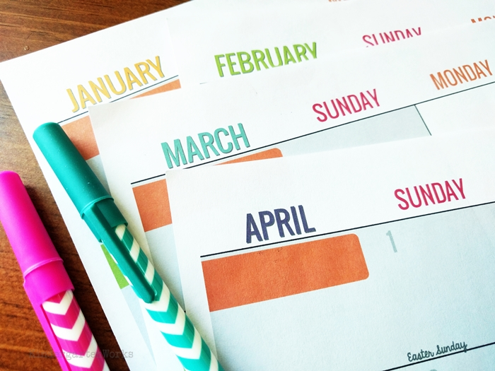 Teacher Printable Calendar Planning Calendar with Holidays