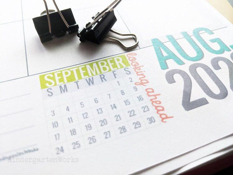 Wow Calendar 2022.2021 2022 Teacher Planning Calendar Template Kindergartenworks