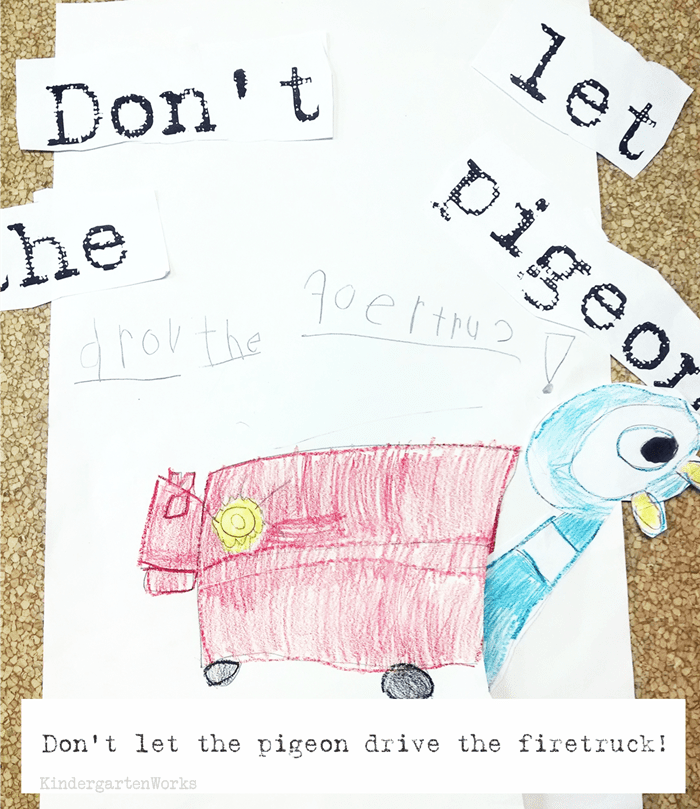 Don't Let the Pigeon drive the bus writing activity