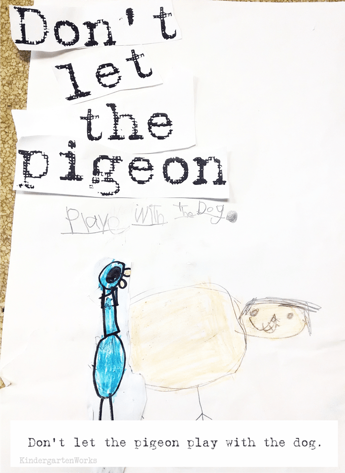 Don't Let the Pigeon stay up late writing activity