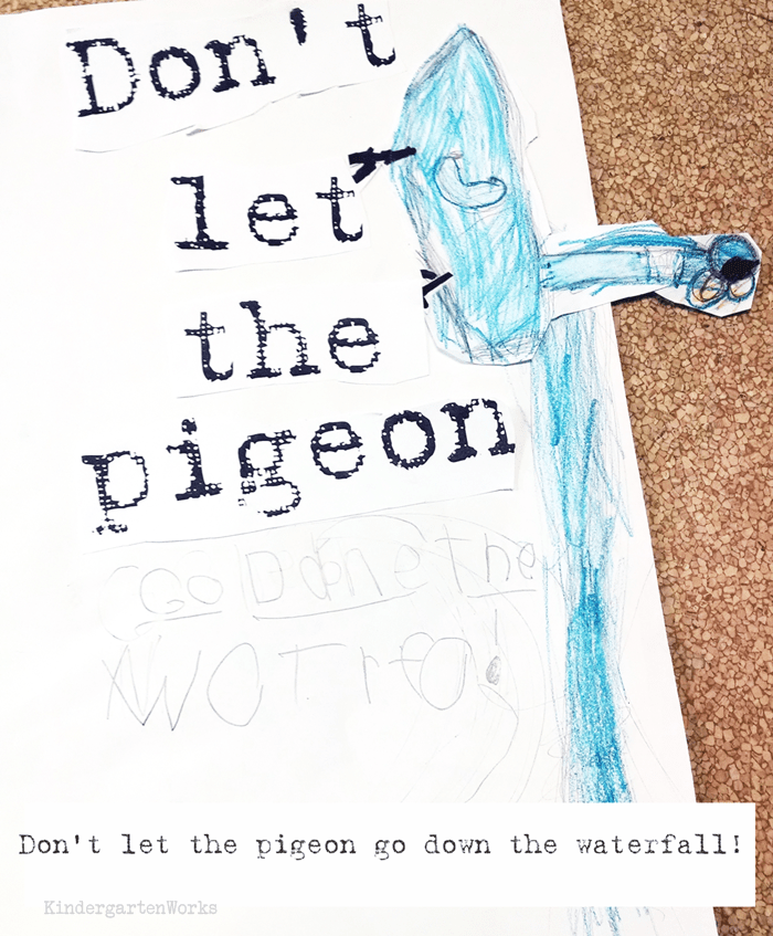Don't Let the Pigeon... Writing Activity for kids