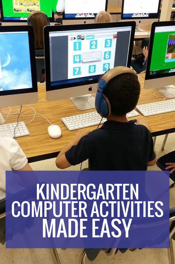 Kindergarten Computer Activities - easy to use