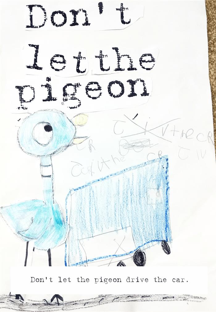 Kindergarten writing activity - Don't Let the Pigeon...