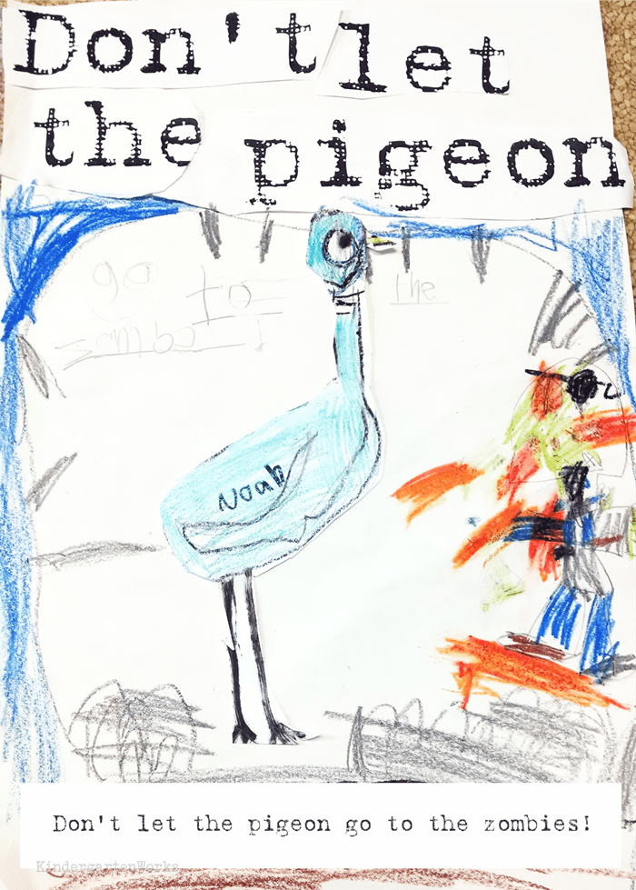 The Pigeon books writing activity for kindergarten Mow Willems author study
