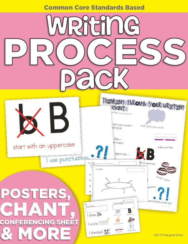 Writing process pack for kindergarten teachers