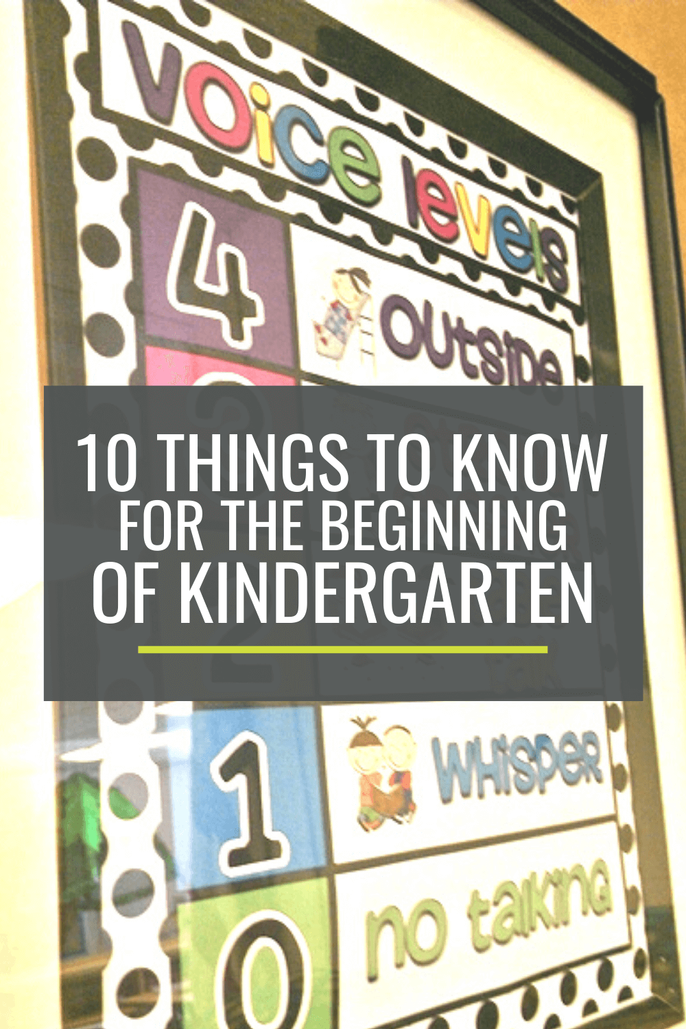 10 Things to Know for the Beginning of Kindergarten