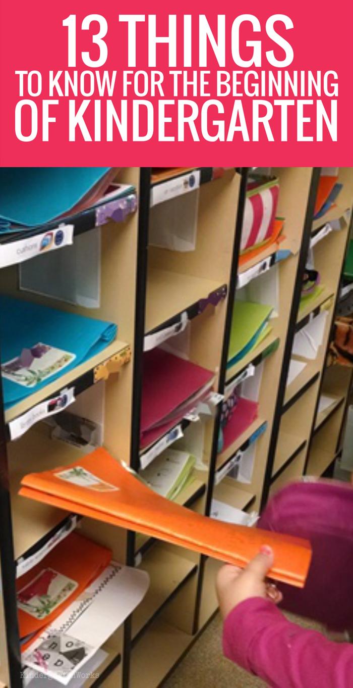13 Things Kindergarten Teachers Should Know for the Beginning of Kindergarten