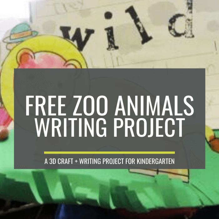 Zoo Animals Writing Project for Kindergarten