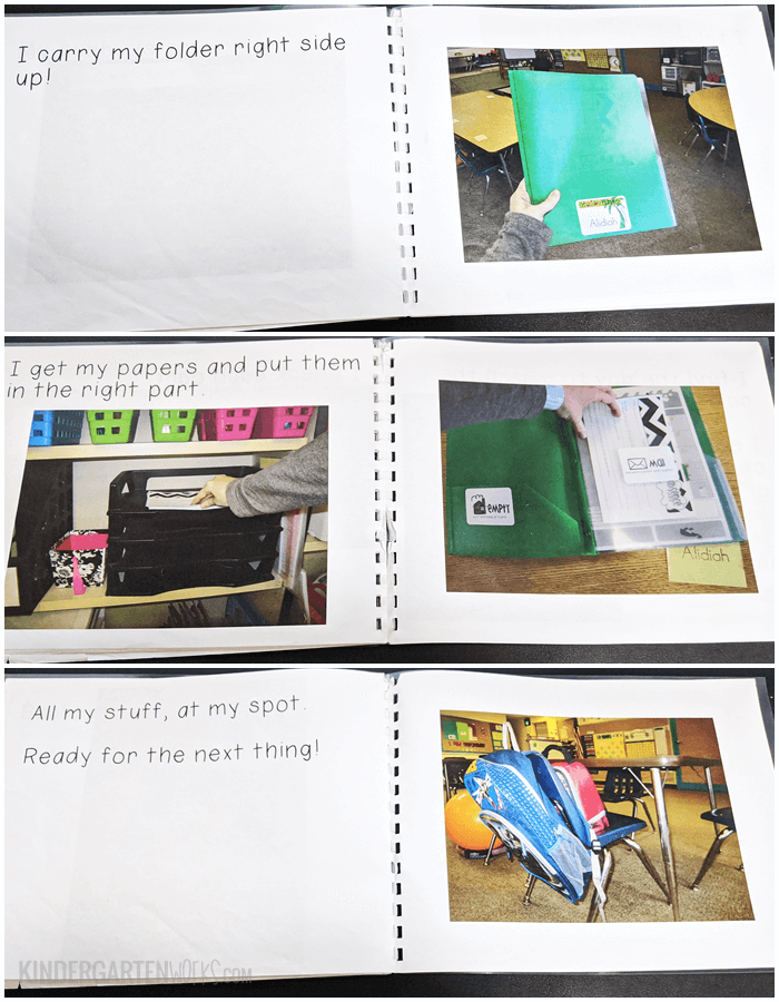 Classroom Procedures Book for Kindergarten End of the Day