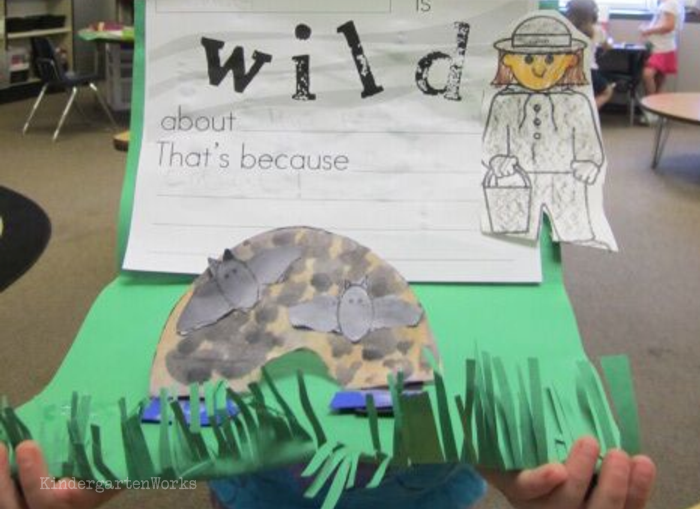 Free and Easy Zoo Animals Writing Project for Kindergarten - bats template