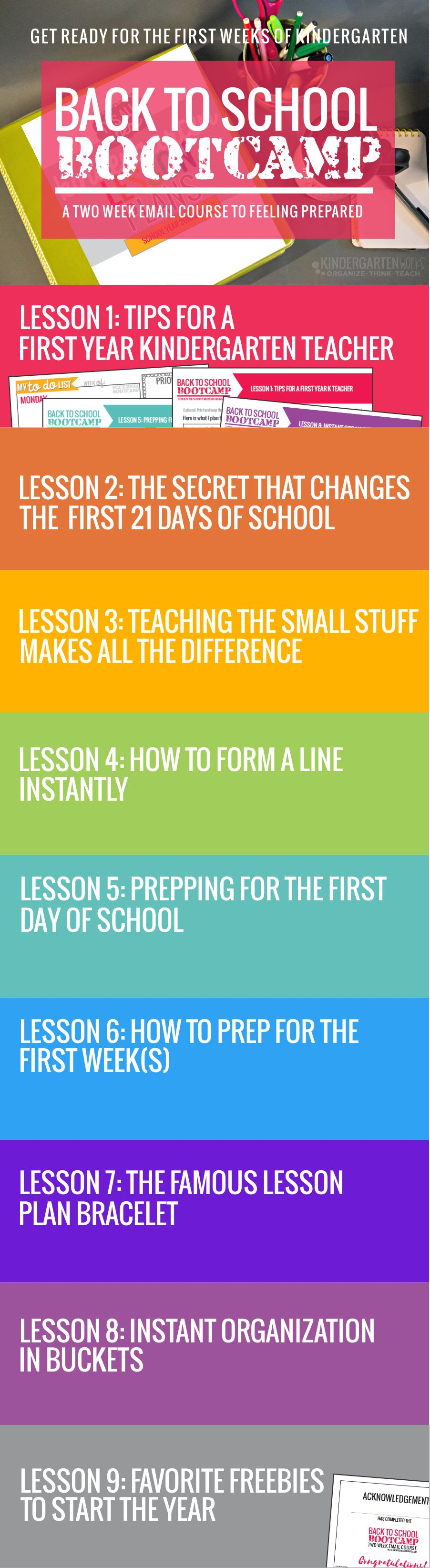Free back to school bootcamp for kindergarten teachers - start teaching kindergarten