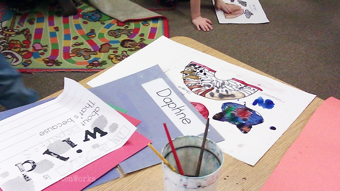 Free and Easy Zoo Animals Writing Project for Kindergarten - painting animals