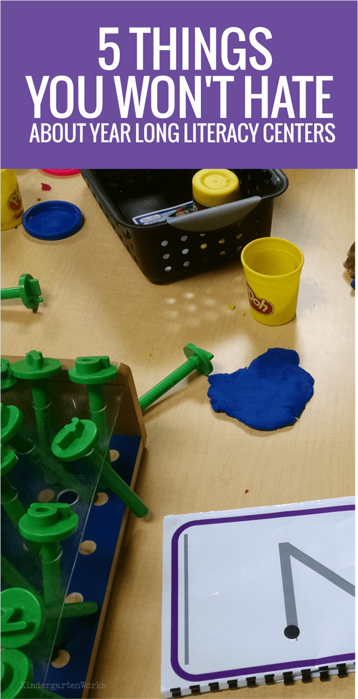 5 Things You Won't Hate About Year Long Literacy Centers in Kindergarten