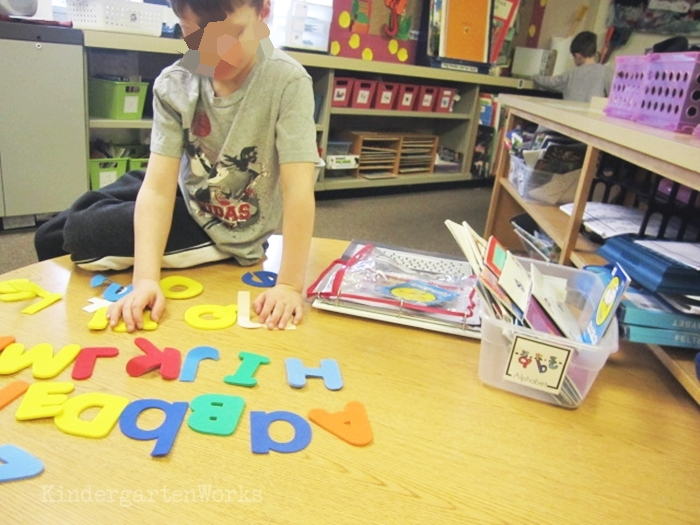 Alphabet Non-fiction Literacy Center Activity - differentiated