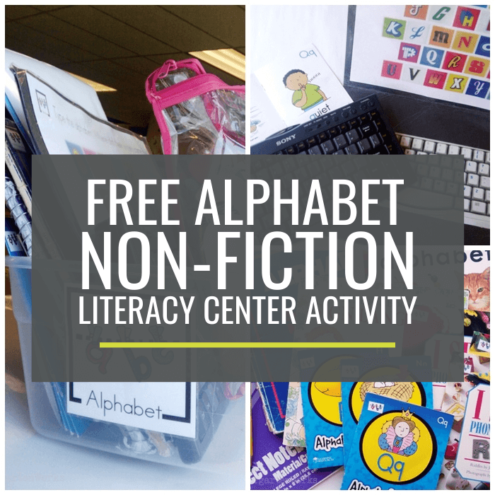 Alphabet Non-fiction Literacy Center Activity