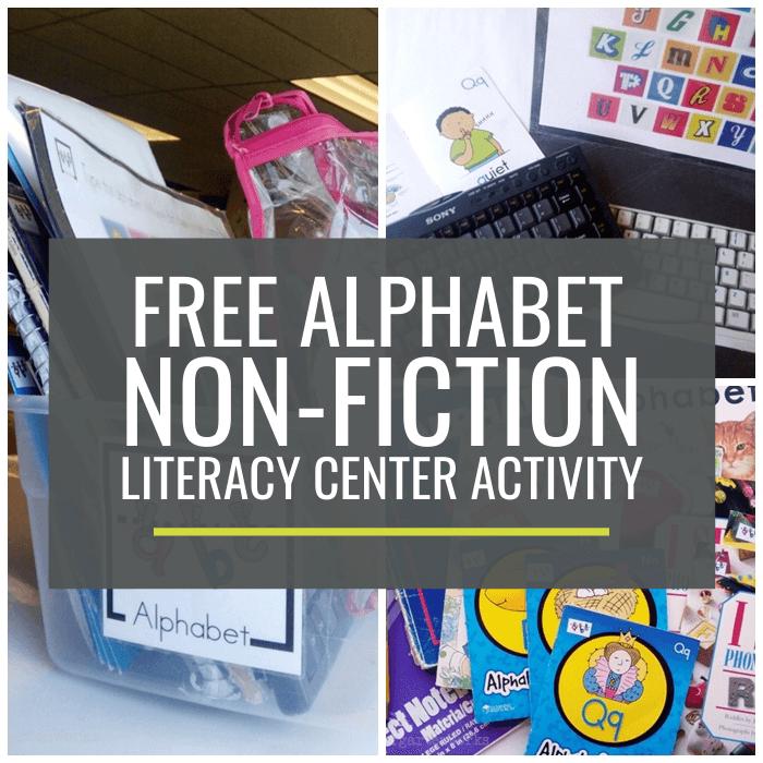 Alphabet Non-fiction Literacy Center Activity