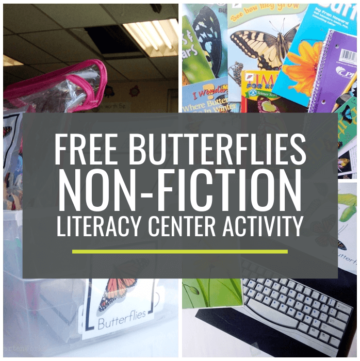 Butterflies Non-fiction Literacy Center Activity