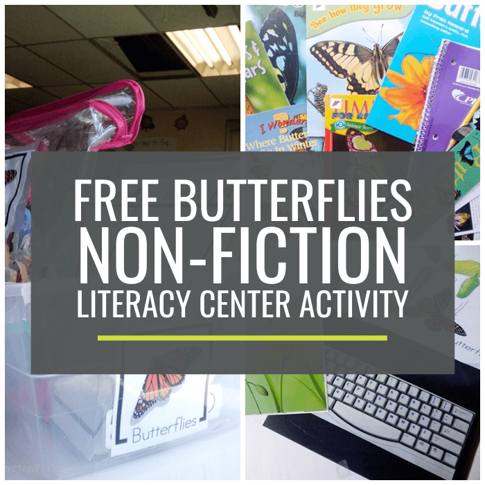 Butterflies Non-fiction Literacy Center Activity
