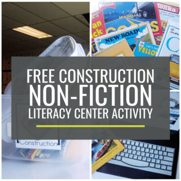 Construction Non-fiction Literacy Center Activity