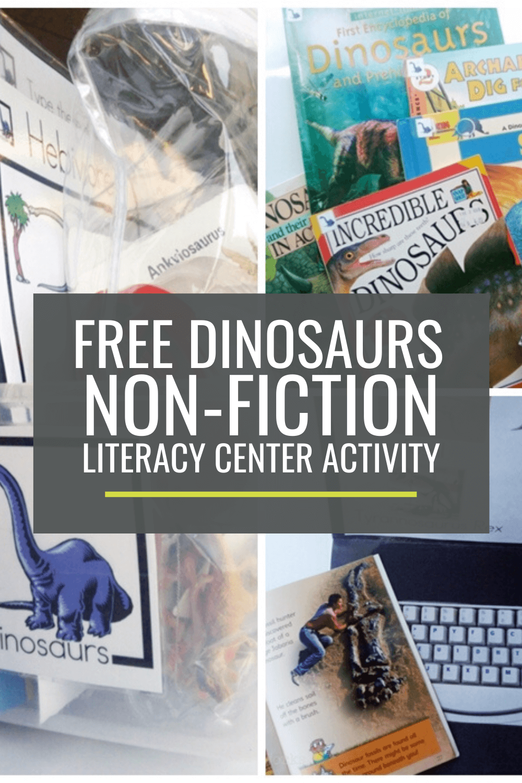Dinosaurs Non-fiction Literacy Center Activity Set
